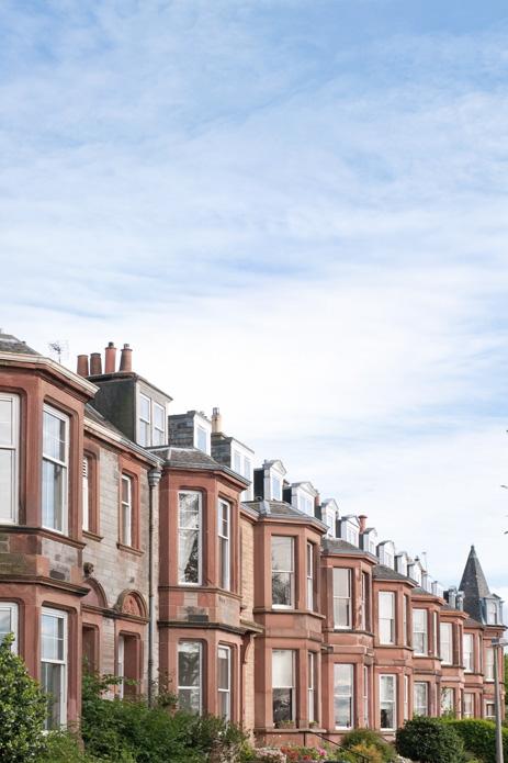 Mortage advice, Row of terraced houses